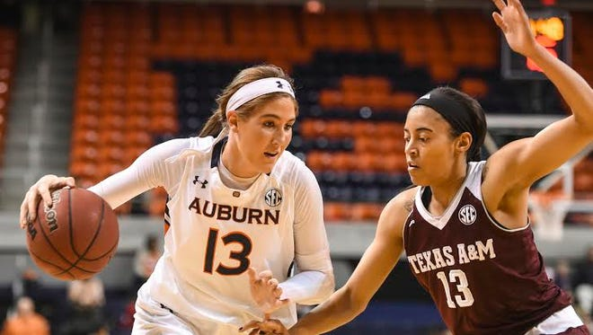 Auburn forward Katie Frerking will have her brother, a Baylor graduate, in the stands Sunday night  when No. 9 seed Tigers tries to knock off top seeded Baylor.