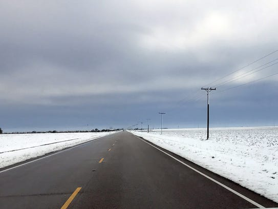 This Dec. 8 photo of Chapman Ranch Road shows the midday