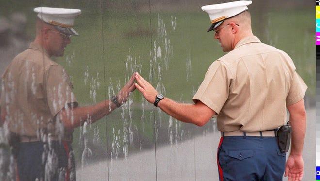 At the Korean War Veterans Memorial in Washington, D.C.