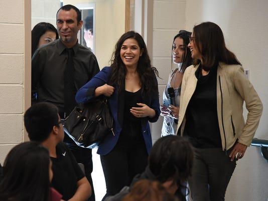 America Ferrera And Voto Latino Meet With Students In Las Vegas Area Ahead Of Nevada Caucuses