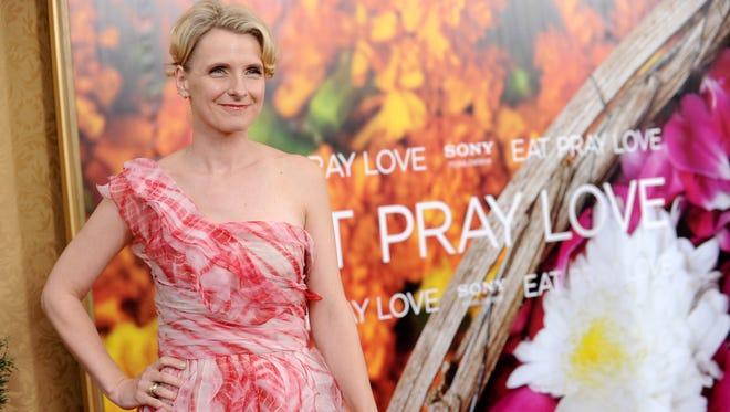 Elizabeth Gilbert at premiere of 'Eat Pray Love' Aug. 10, 2010 in New York.