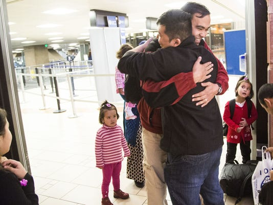 Greeting the latest refugees