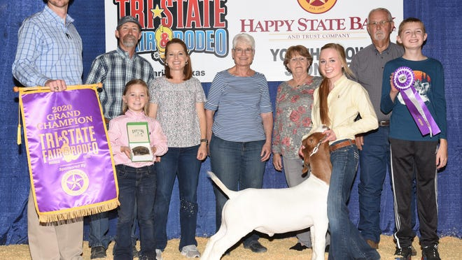 Sunny Cowley won Grand Champion honors at this year's Youth Market Goat Show at the 2020 Tri-State Fair.