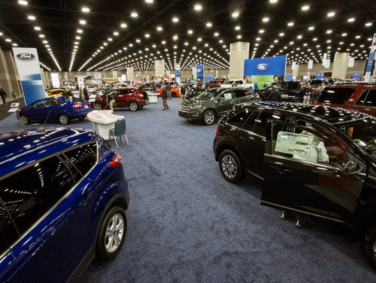 Seen here in 2015, the Louisville Auto Show featured dozens of dealers and the latest models from a variety of makers.