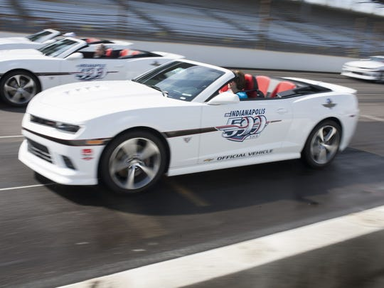 An Indy 500 pace car replica like this one was stolen from an Northwestside dealship and crashed.