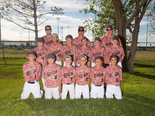 For the second consecutive season, the High Desert Little League minors all stars will be playing this weekend in the Nevada State Tournament. Team members are (not in order) Gabe Tollestrup Jr., Levi Jessop, Traven Cassinelli, Jake Cumming, Cash Hall, Anthony Winters, Brandon McCullar, Aren Duncan, Ryan Gamsby, Riley Buller, Kaden Stanger and Juan Pierre Sablan, manager Eric Stanger, coach Bob Cumming and coach Gabe Tollestrup.