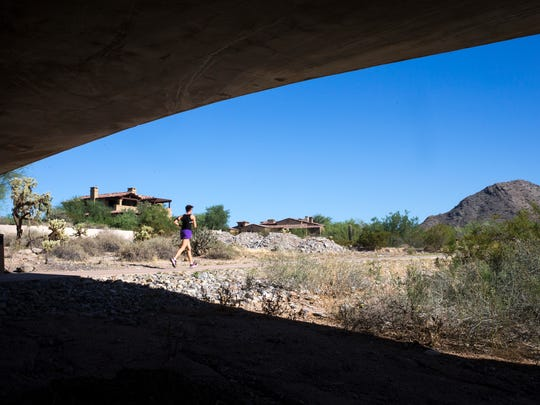 North Scottsdale on Aug. 28, 2015, near East Thompson Peak Parkway and Desert Camp Drive in DC Ranch.