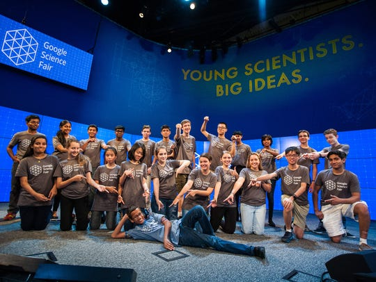 The 20 finalists in the Google Science Fair got to