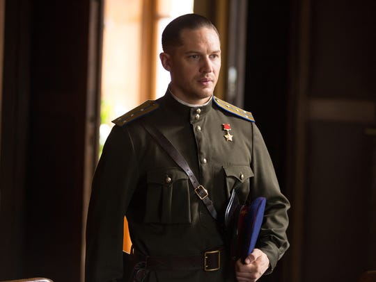 "Tom Hardy appears in a scene from ""Child 44."""