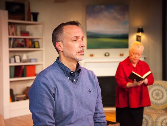 Cal and Katharine, played by John Jensen and Peggy