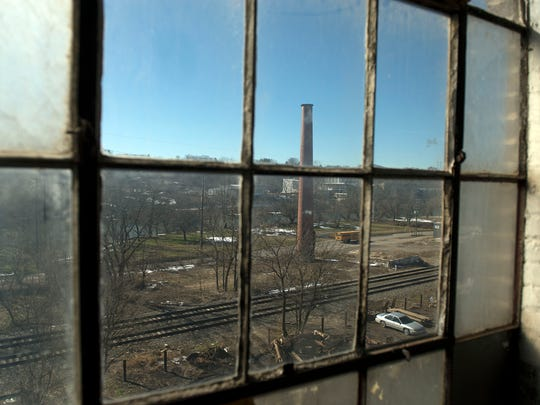 Looking west from the River Arts District from a window in the Phil Mechanic Studios building, which was recently sold at 97 Roberts Street.