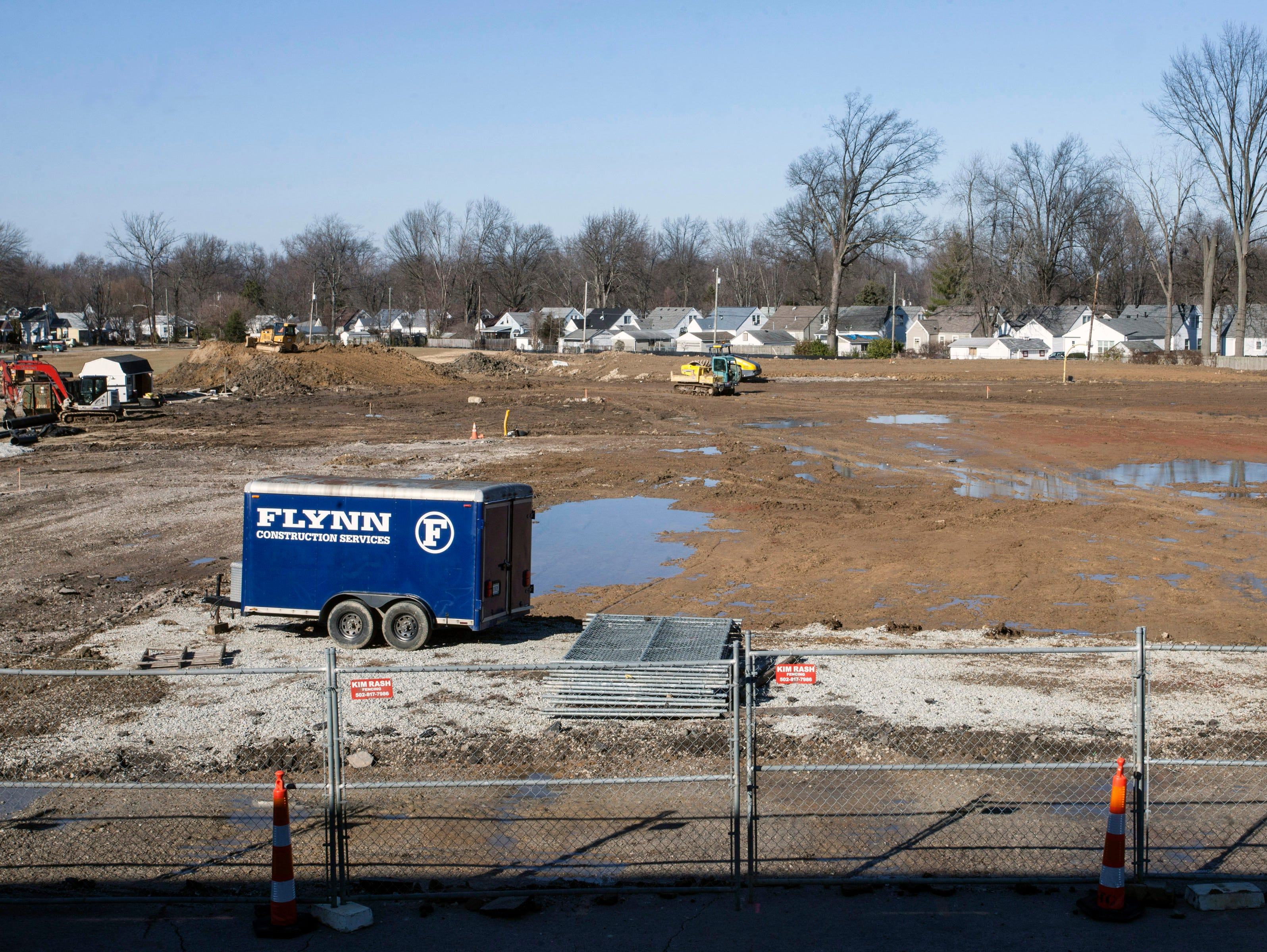 An area behind DeSales High School has been leveled of old buildings to make way for a new stadium and other sports facilities. 1/28/16