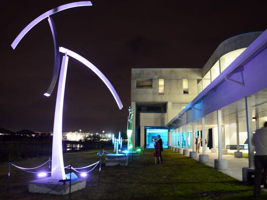 Kinetic art on display during The Art of Sustainability