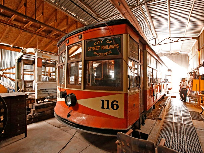 Ernie Workman, president of the Phoenix Trolley Museum