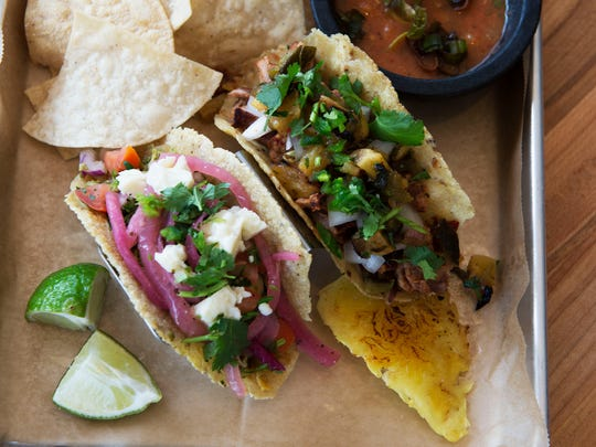 A pair of tacos sit ready at Mamacita's Taco Temple, which is located at 132 Charlotte Street.