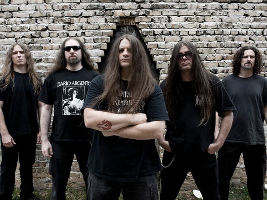 Don't expect any silly love songs or lullabies when Cannibal Corpse brings the death metal to Side Bar Theatre on Friday.