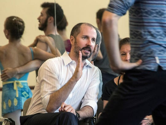 Louisville Ballet artistic director Robert Curran provides instruction during a rehearsal.