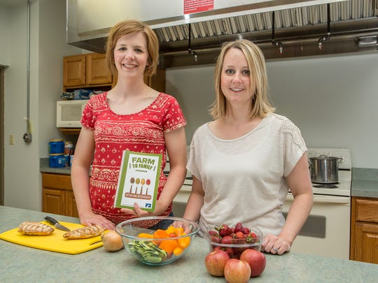 """Leslie Jordan and Lisa Shumaker, from left, of Marion have been honored for their """"Farm to Family"""" program, which helps low-income families prepare more nutritious meals."""