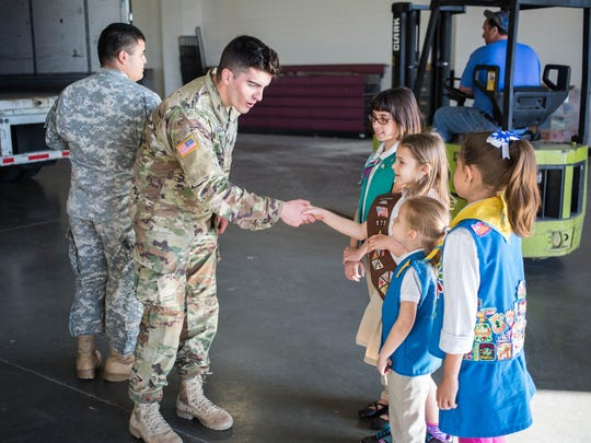 Girl Scouts of Middle Tennessee donated more than 30,000 boxes of cookies to troops at Fort Campbell on Friday.