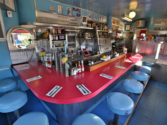The nine-seat interior at the existing Welcome Diner in Phoenix.
