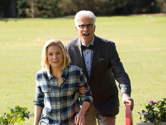 Kristen Bell and Ted Danson star in 'The Good Place,'