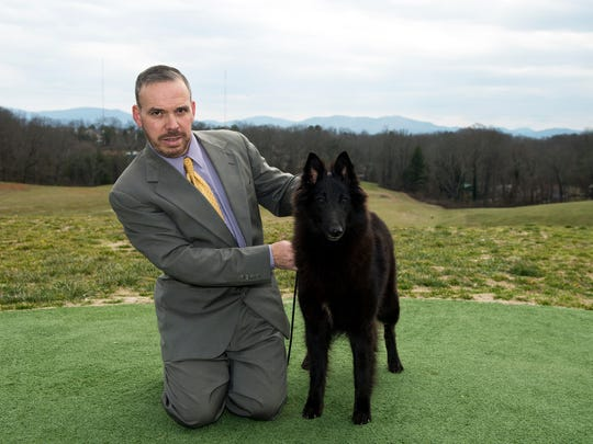Moshe Reshef is a professional handler, who shows dogs for clients. He's also a breeder.