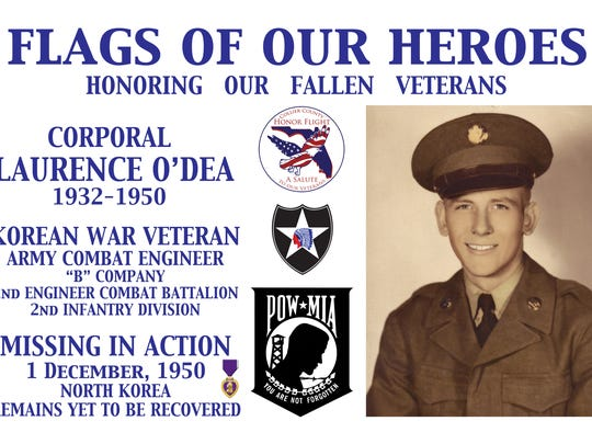 Collier County Honor Flight is honoring Cpl. Laurence O'Dea, missing in action since Dec. 1, 1950.