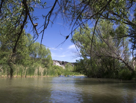 Along the Verde River in Arizona