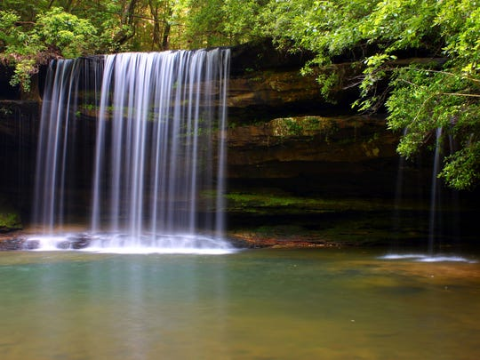 Beautiful Caney Creek Falls in the William B Bankhead National Forest of Alabama.