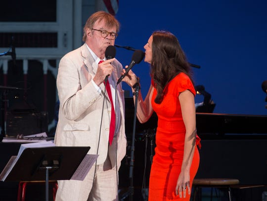 Garrison Keillor and Heather Masse perform Friday night