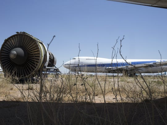 A decommissioned 747, June 22, 2016, at Pinal Airpark,