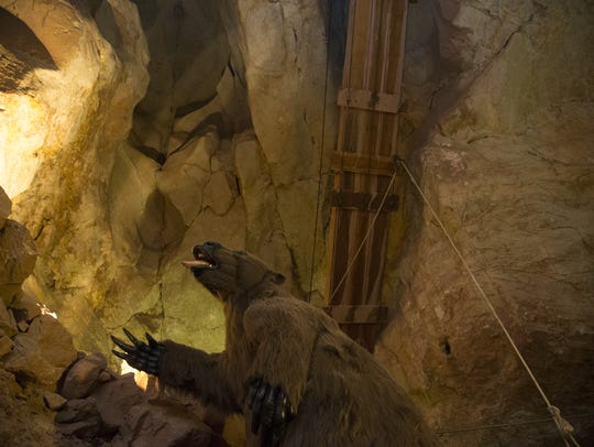 An extinct three toed sloth, June 14, 2016, at the