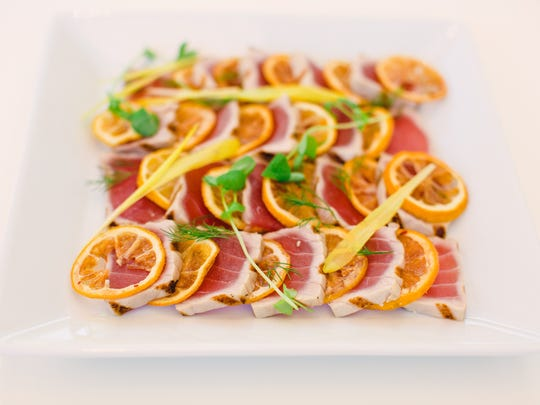 Preserved lemon and ahi tuna from Chef Jack Raben.