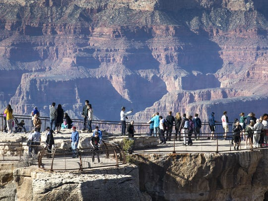 With its stunning views,  Mather Point at Grand Canyon