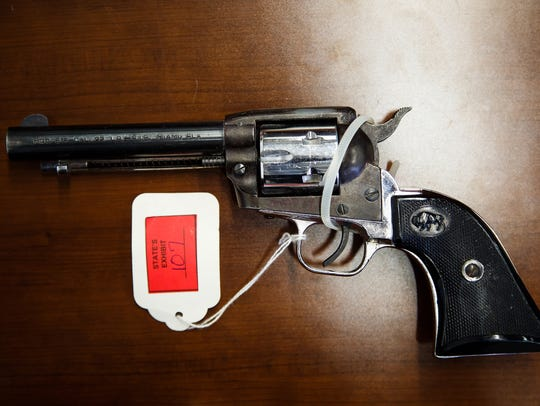 Jerimy Sneed had taken a .22-caliber revolver from
