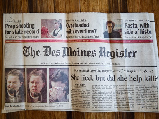 A Des Moines Register clip from the trial of Jamie