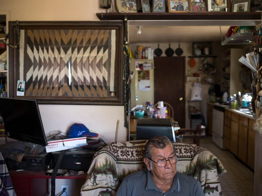 Lyman Polacca, 81, buys bottled water when he worries
