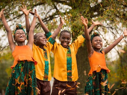 The African Children's Choir performs Christian gospel