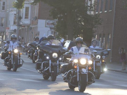 The 2016 Bike Night parade Friday, Sept. 23, 2016.