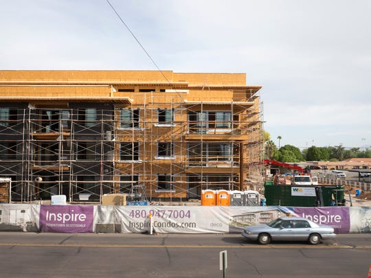 Construction continues at Inspire Downtown Scottsdale,