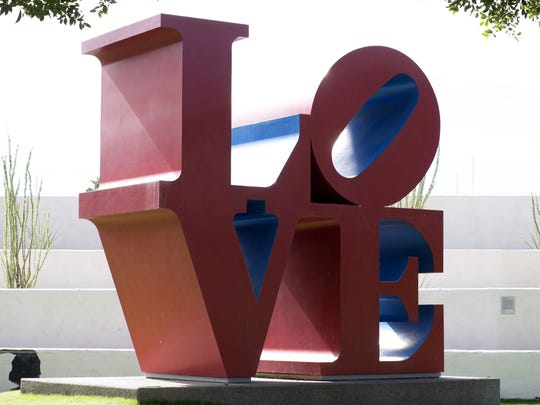 Scottsdale's Civic Center Plaza, including access to the popular Love sculpture, is currently closed for bridge work.