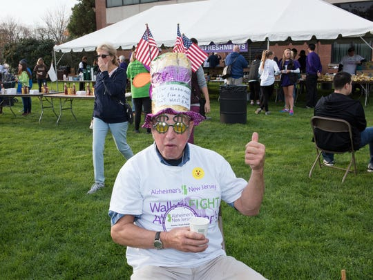 Alzheimer',s New Jersey held their Walk to Fight Alzheimer''s at Bergen Community College on Oct. 30. Here Braze Huron wears a silly hat at the walk.