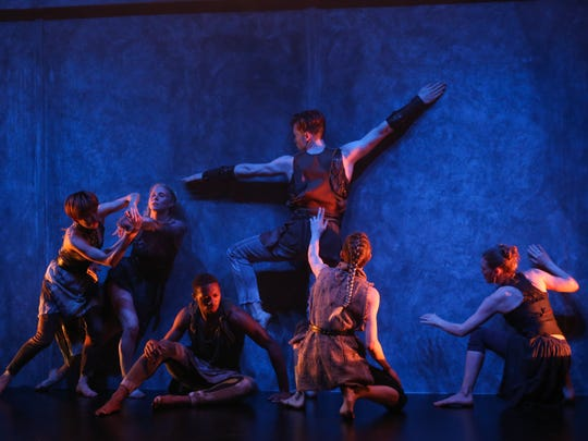 """Tiffany Mills Company in """"After the Feast"""" a part of La MaMa Moves Festival."""