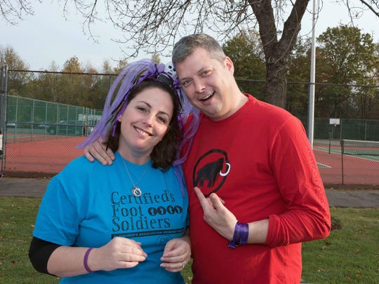 Alzheimer's New Jersey held their Walk to Fight Alzheimer's at Bergen Community College on Oct. 30. Pam (10K donator) and Mike Mellor at the walk.