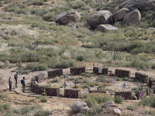 The site where 19 Granite Mountain Hotshots died in
