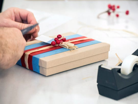 For some families, wrapping all the gifts can take as long as a week, Vinet says. So she recommends setting aside a time to do it the week before Christmas, Hanukkah and  Kwanzaa to tackle it all.