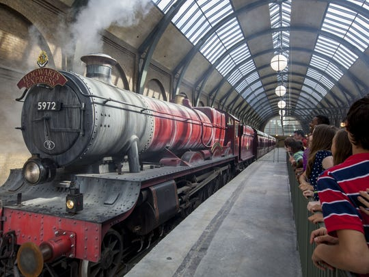 Check out the Hogwarts Express at the Wizarding World