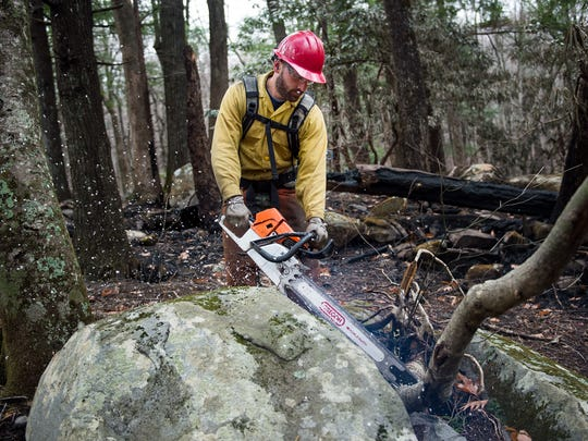 U.S. Forest Service firefighter Joe Hodges, from the