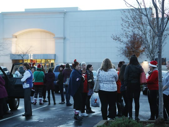 The Mt. Shasta Mall was evacuated Saturday because of a suspected gas leak.