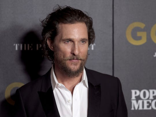 """Matthew McConaughey attends the world premiere of """"Gold"""" on Jan. 17, 2017, in New York City."""